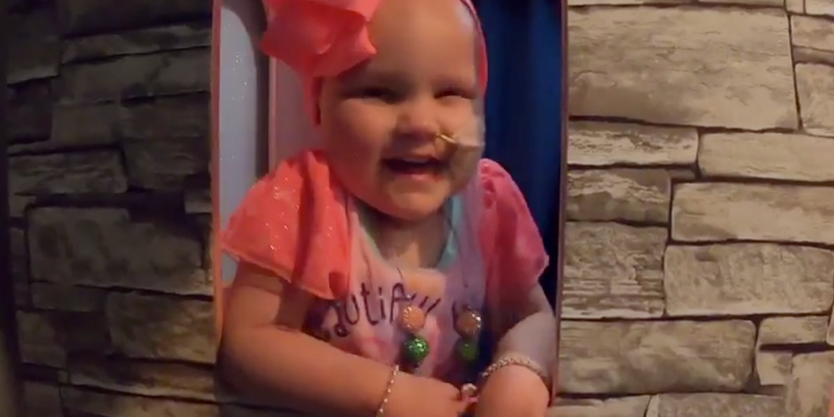 Video: Girl fighting cancer gets princess castle thanks to Make-a-Wish
