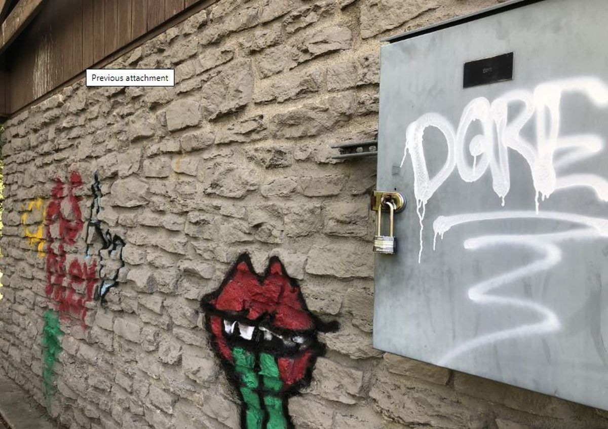 St. Bernard Police search for suspects involved in graffiti incidents