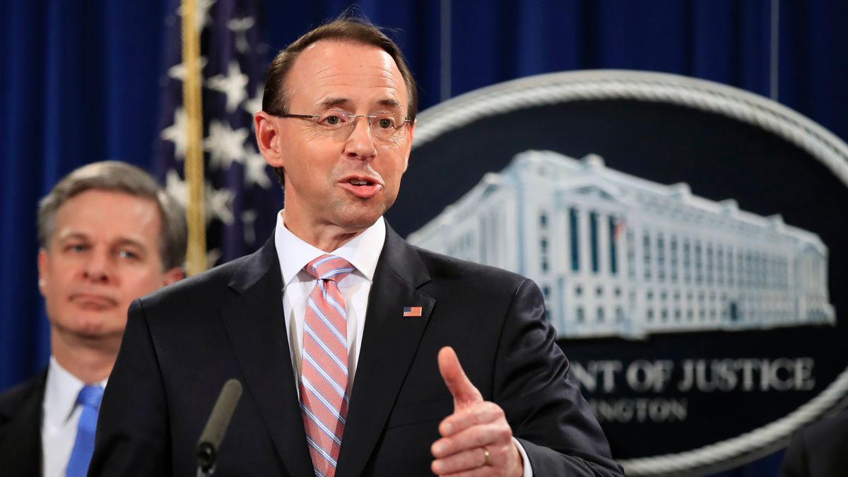 Official: Deputy AG Rosenstein expected to depart in March