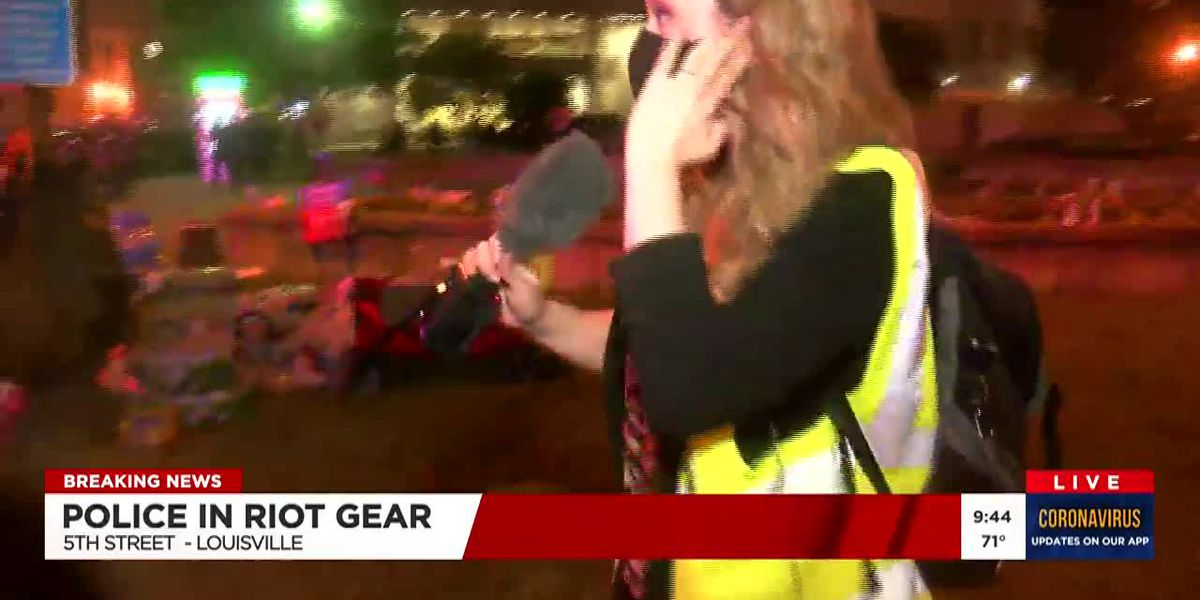 WAVE 3 News reporter hit with rubber bullets during Louisville protest