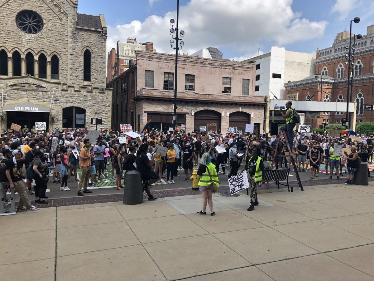 Hundreds protest for racial justice in Cincinnati: 'We just want to be heard'