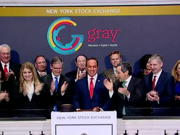 Gray Chairman, CEO Hilton H. Howell Jr. rang the closing bell at the New York Stock Exchange