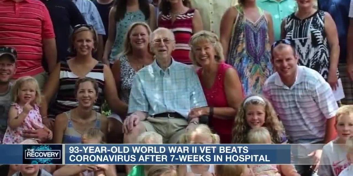 93-year-old WWII vet reunited with family after battling COVID-19
