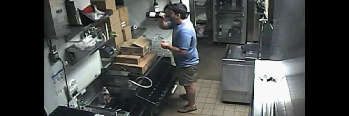 Man seen on surveillance video breaking into Ruth's Chris, drinking alcohol