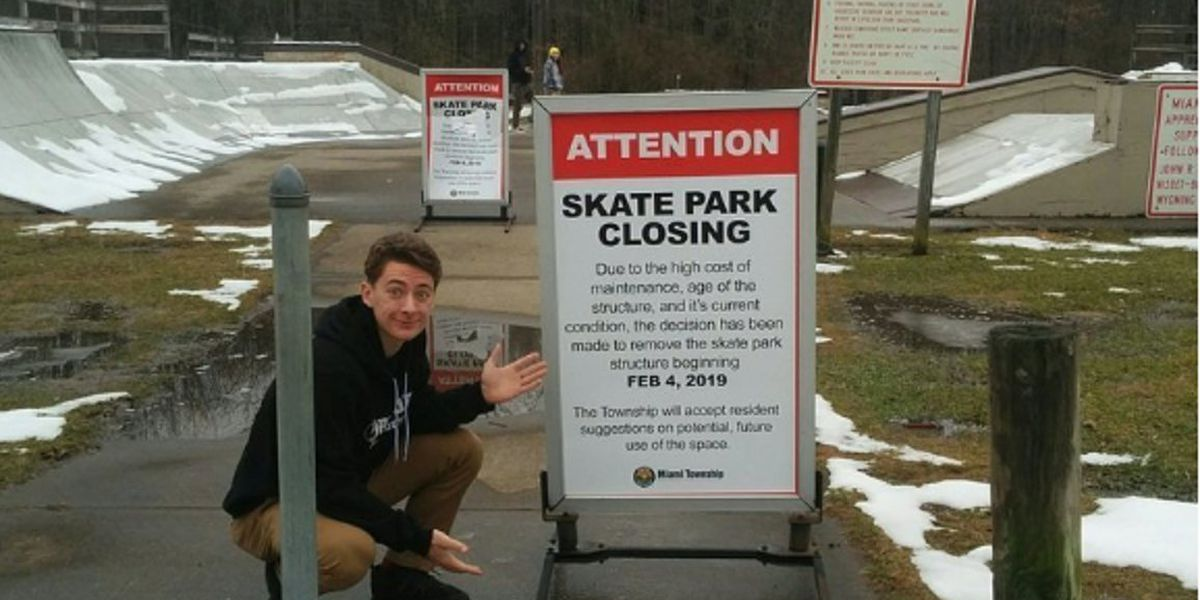 Teen tries to save local skate park in jeopardy of closing