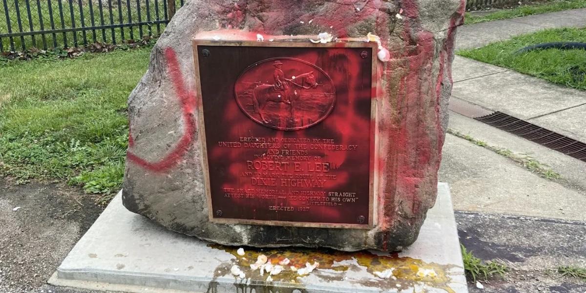 Robert E. Lee monument vandalized in Warren County
