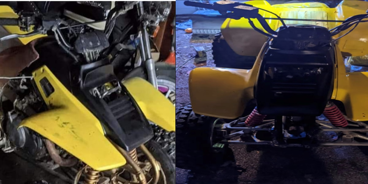 Family offering reward after ATVs stolen from the garage