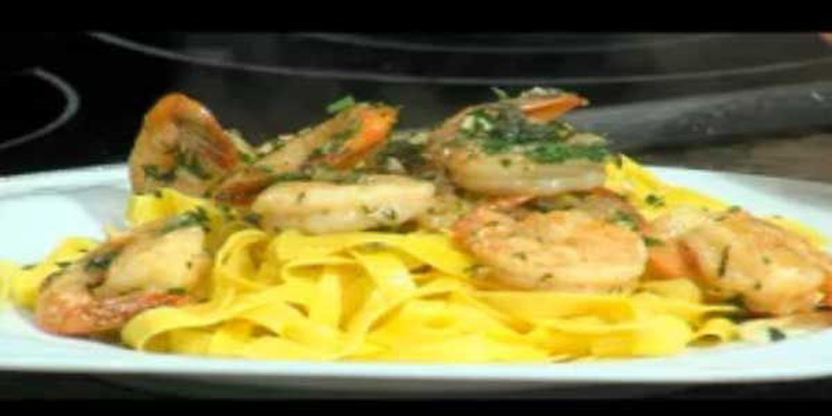 Recipe: Bambina's lemony garlic shrimp scampi pasta