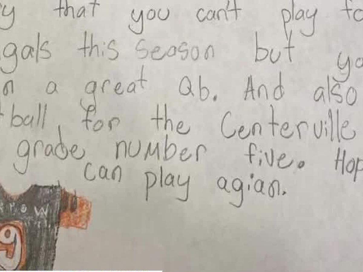 Get Well Soon: Young Bengals fan offers words of encouragement to Joe Burrow