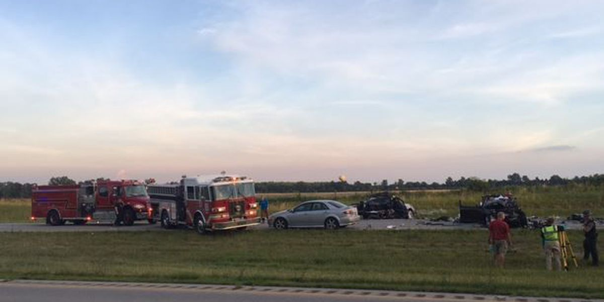 Two dead, three hurt in Brown County crash