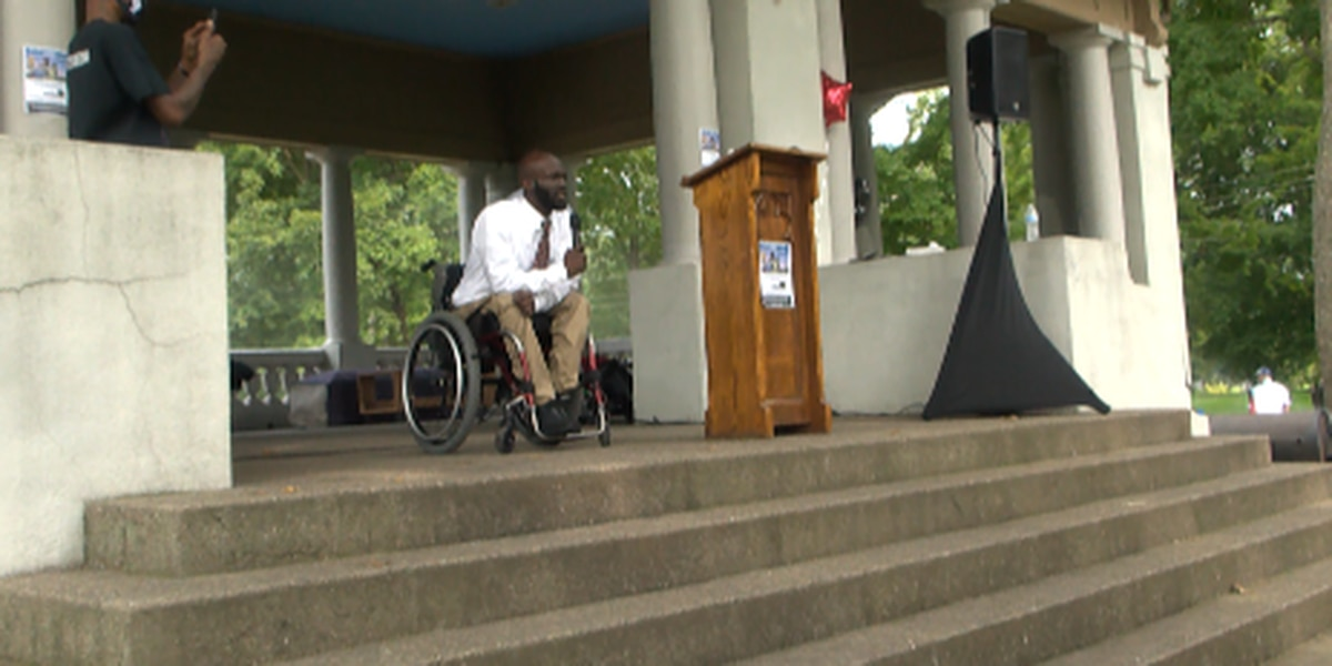 Louisville man paralyzed from gun violence calling on community to protect the youth