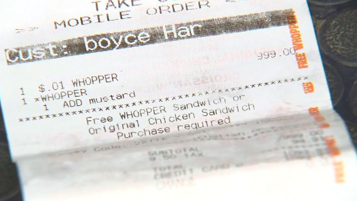 Man buys 1-cent Whopper for $1,000