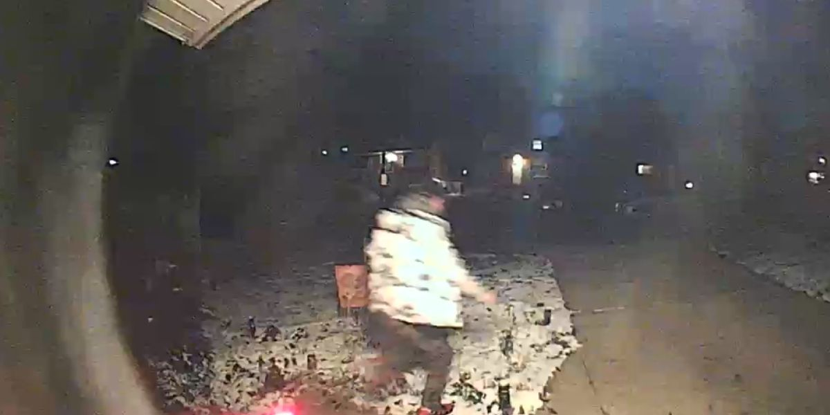 CAUGHT ON CAM: Woman says someone tried to steal her holiday projector just days after having one stolen
