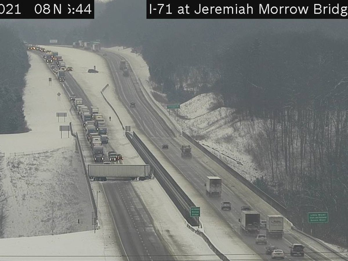 All lanes of I-71 South reopened after crash at Jeremiah Morrow Bridge