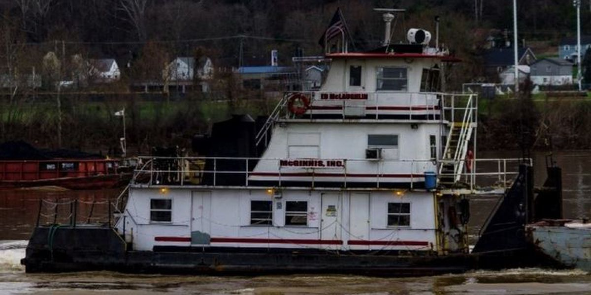 Vessel sunk in Ohio River with estimated 4,990 gallons of diesel fuel