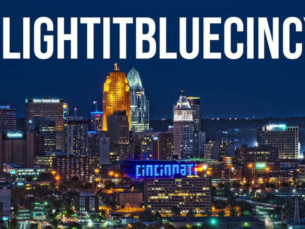 Cincinnati lighting up blue to show support for COVID-19 essential workers