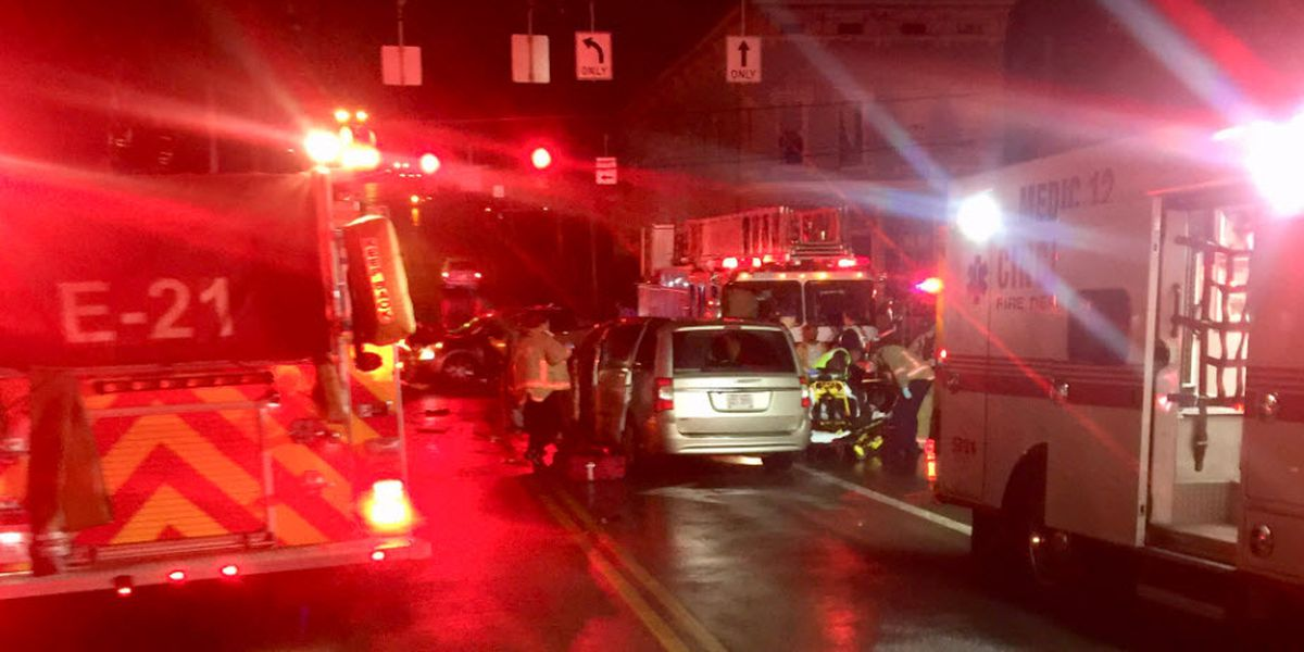 Several hospitalized after four-car crash in Fairmount