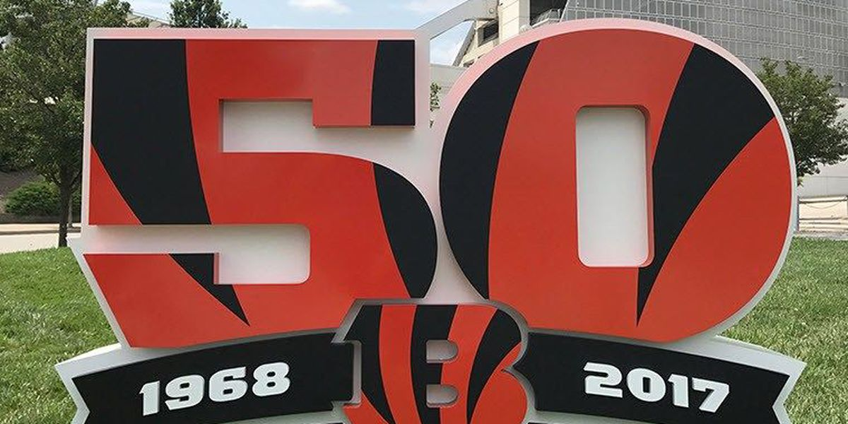 Bengals plant 50th season sculptures around the Tri-State