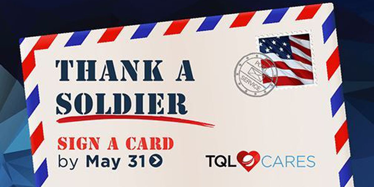 Send a free greeting card to thank troops overseas