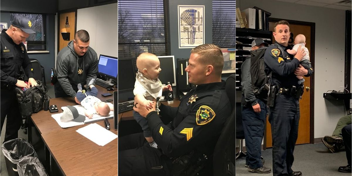 SC deputies help out fellow law enforcement couple with babysitting duties