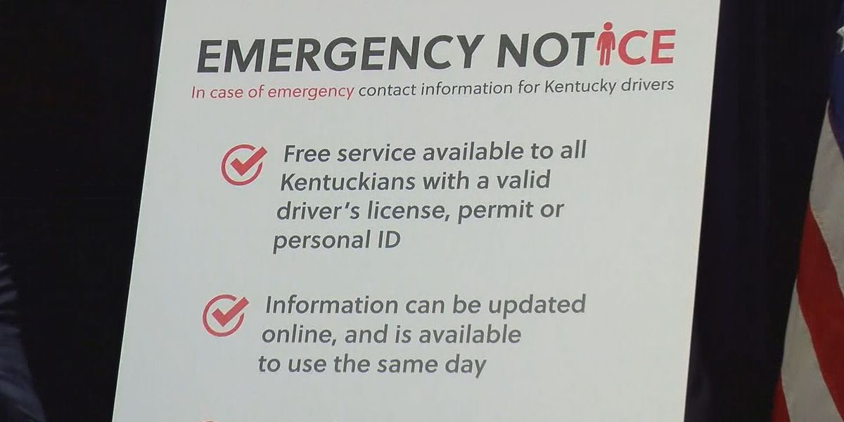 Kentuckians can now plug emergency contact info into licenses, IDs