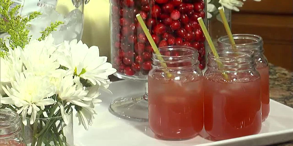 Sparkling Cranberry Punch for Thanksgiving