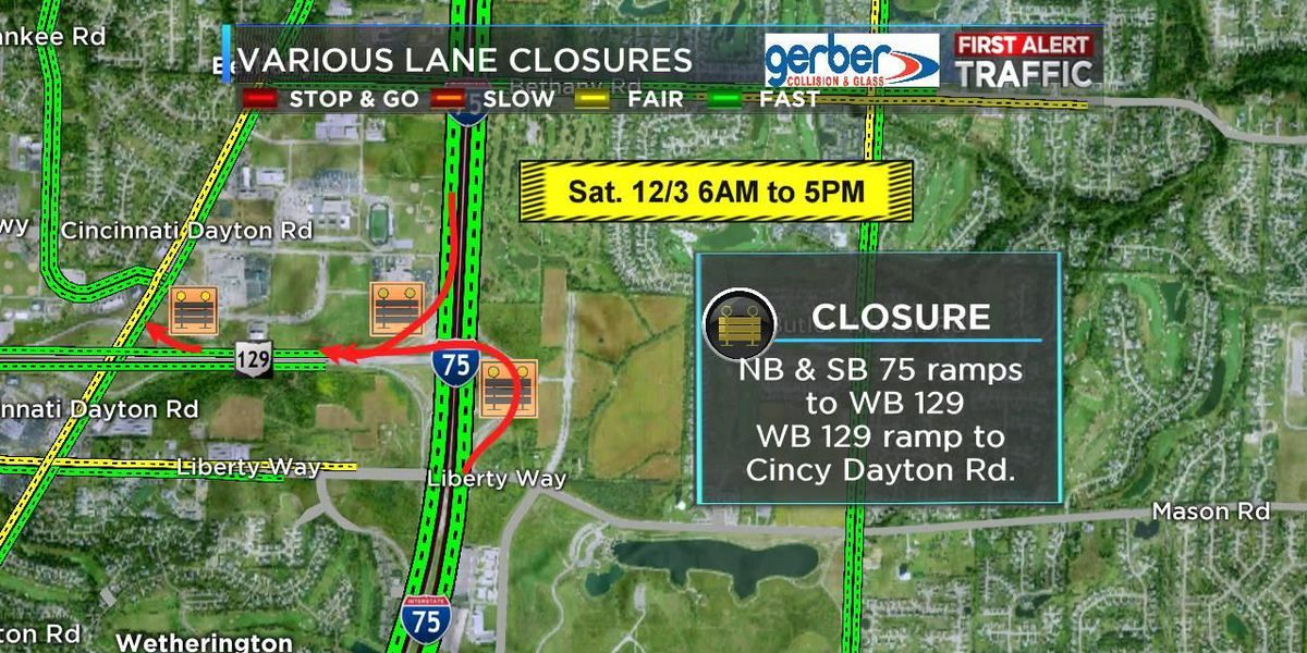 Ramp closures Saturday on Interstate 75 at State Route 129