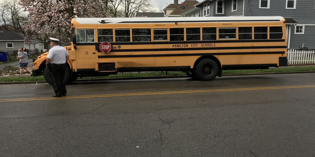 Storm knocks out stoplight, leads to school bus crash