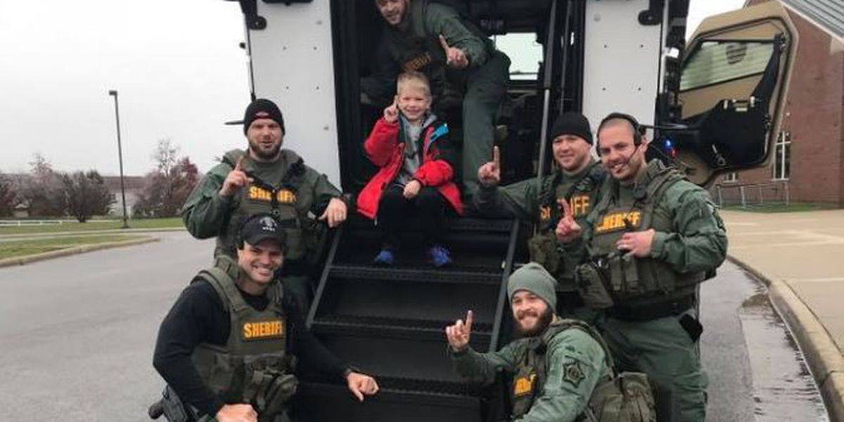WATCH: SWAT team surprises boy at school, presents him with certificate of greatness