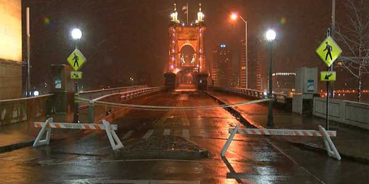 Roebling Suspension Bridge will be closed up to a week due to structural damage