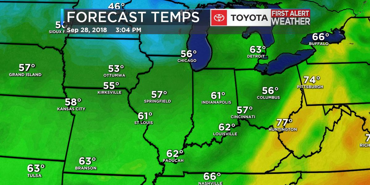 If you're ready for fall, take a gander at next week's temps