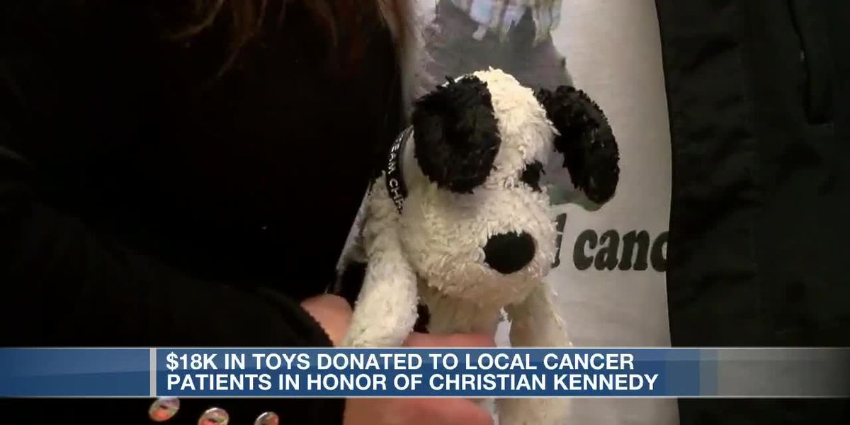 Toys donated to local cancer patients in honor of Christian Kennedy