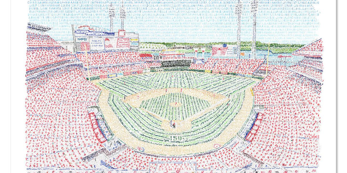 Philadelphia artist writes name of every Reds player in history to create GABP
