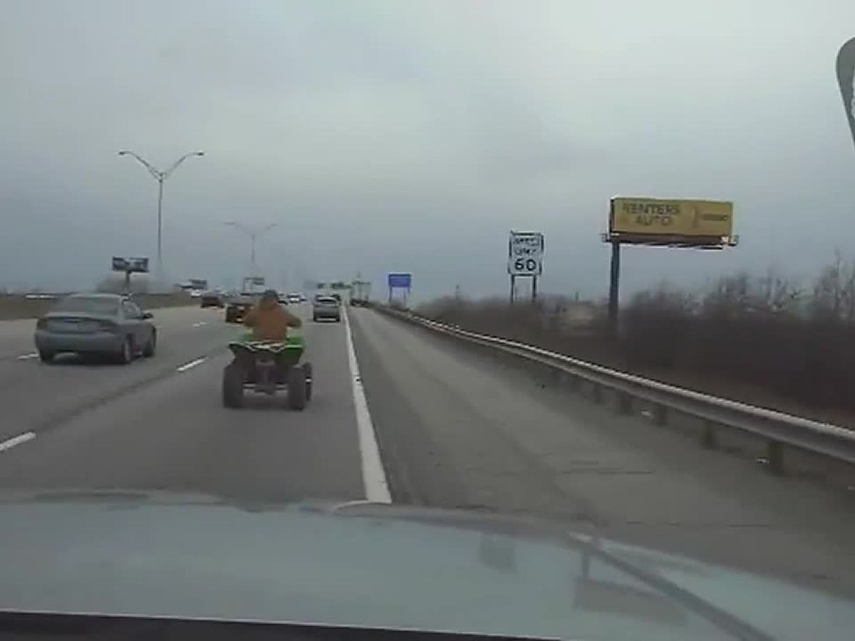 ATV driver eludes Ohio state trooper in chase on Cleveland interstate (video)