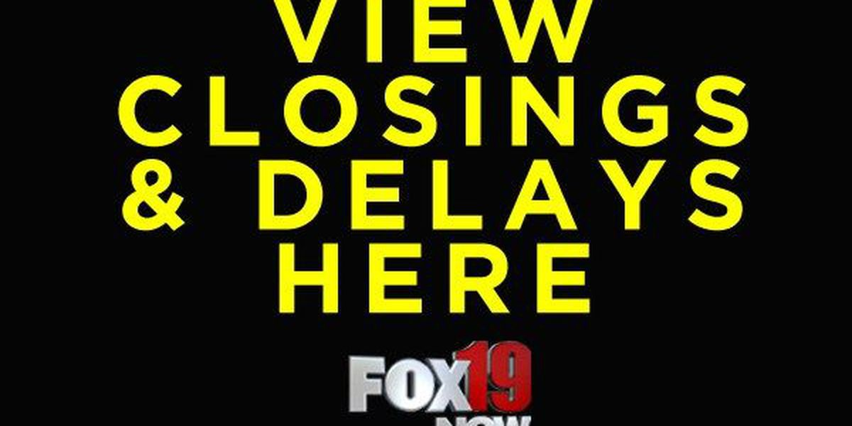 See the latest closings and delays
