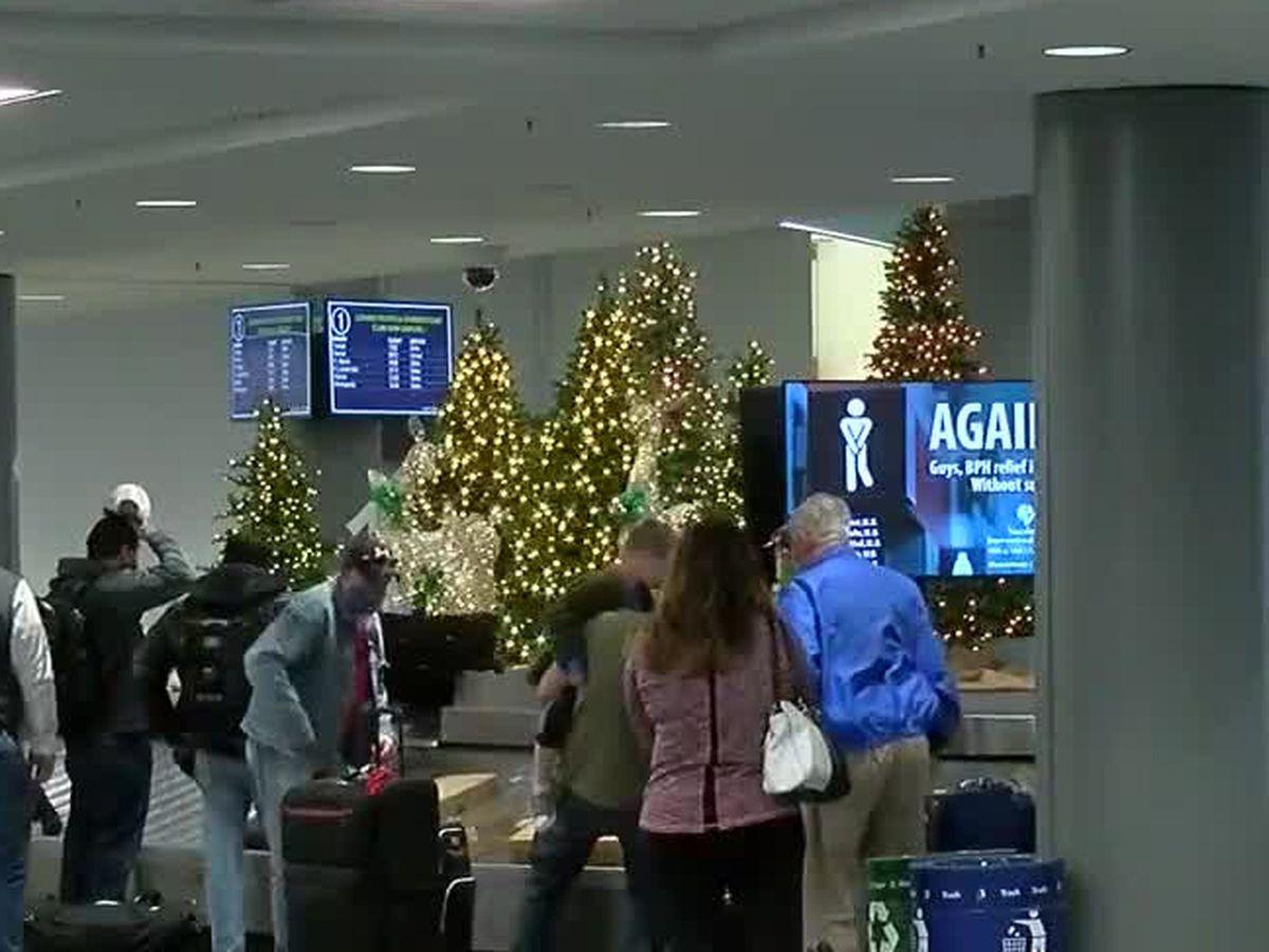 Passengers filter through CVG ahead of Thanksgiving holiday