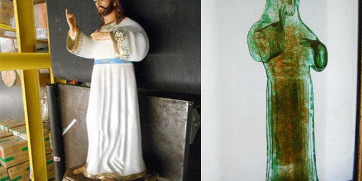 Officers discover marijuana inside religious statue at CVG Airport