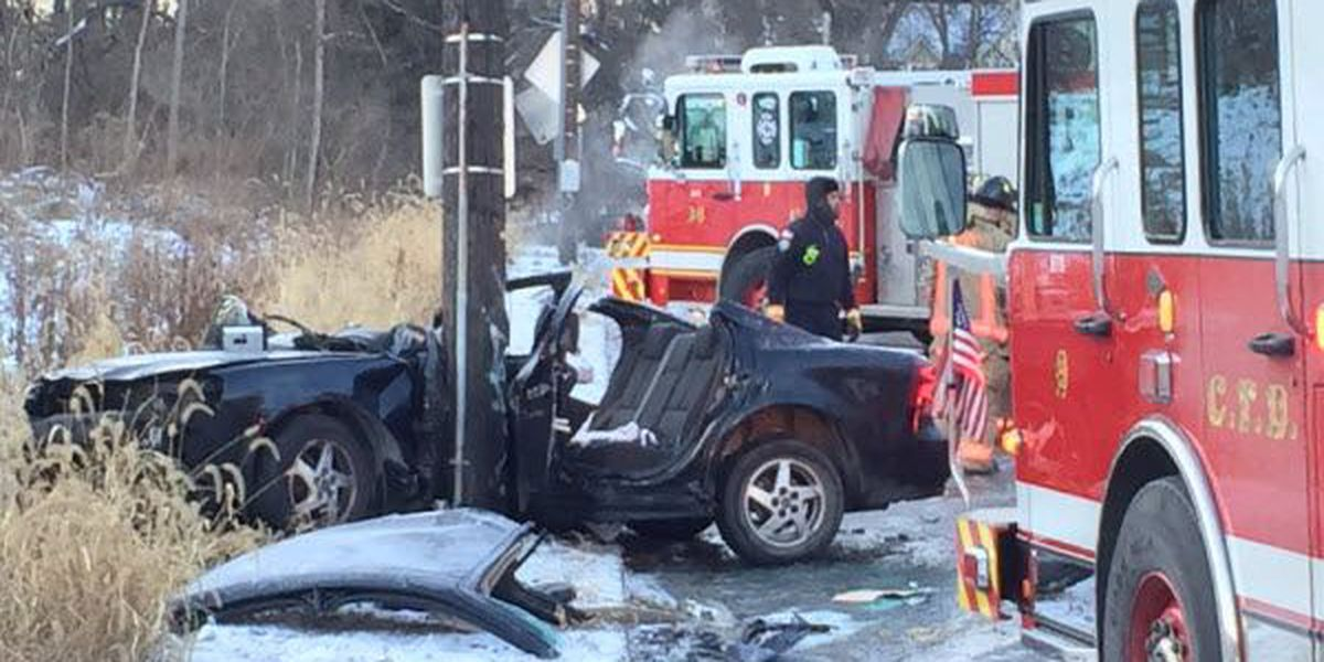 Police: Crash caused by black ice