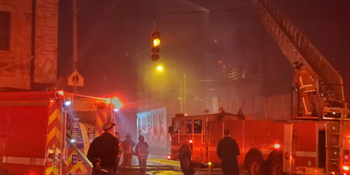 Crews battle 2-alarm fire in vacant OTR building