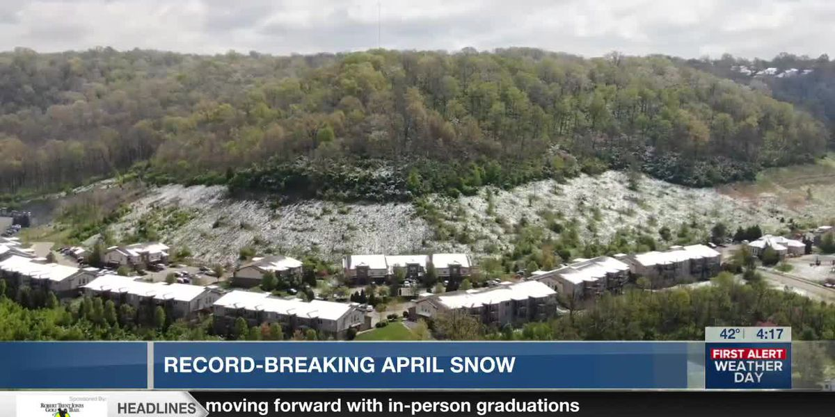 Record-breaking April snow