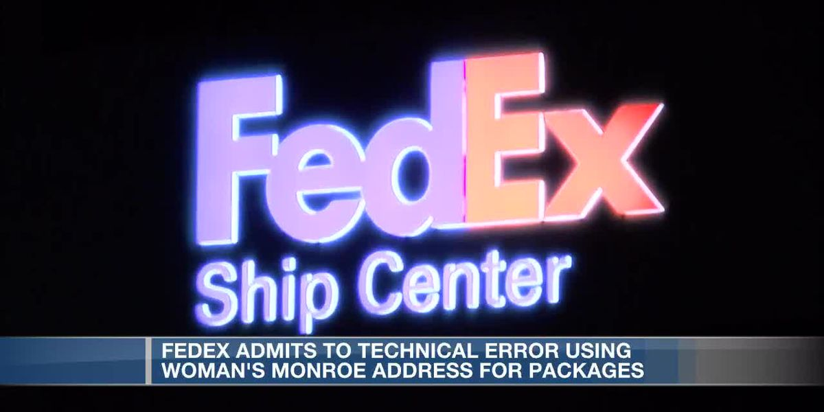 FedEx admits to technical error using woman's address for packages