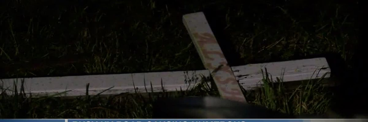 Mother wants something done about busy road after memorial cross knocked over