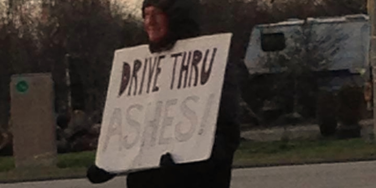 Ohio church offering drive-thru ashes for Ash Wednesday