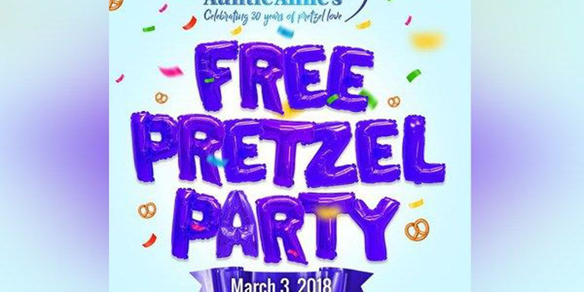 How to get a free pretzel from Auntie Anne's Saturday