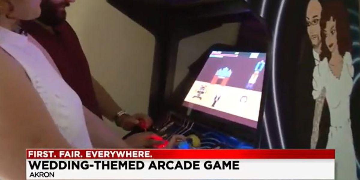 Akron newlyweds design arcade game for wedding ceremony