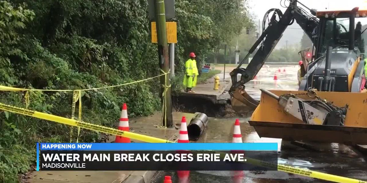 Water main break keeps Madisonville roads closed
