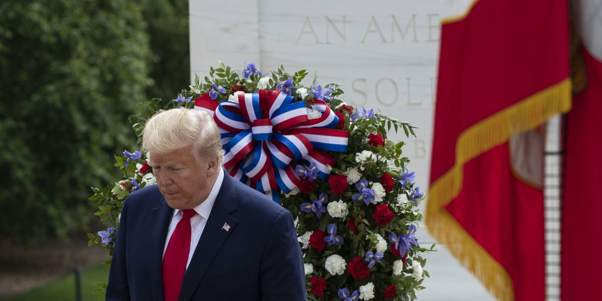 LIVE: Trump doubles up on Memorial Day events