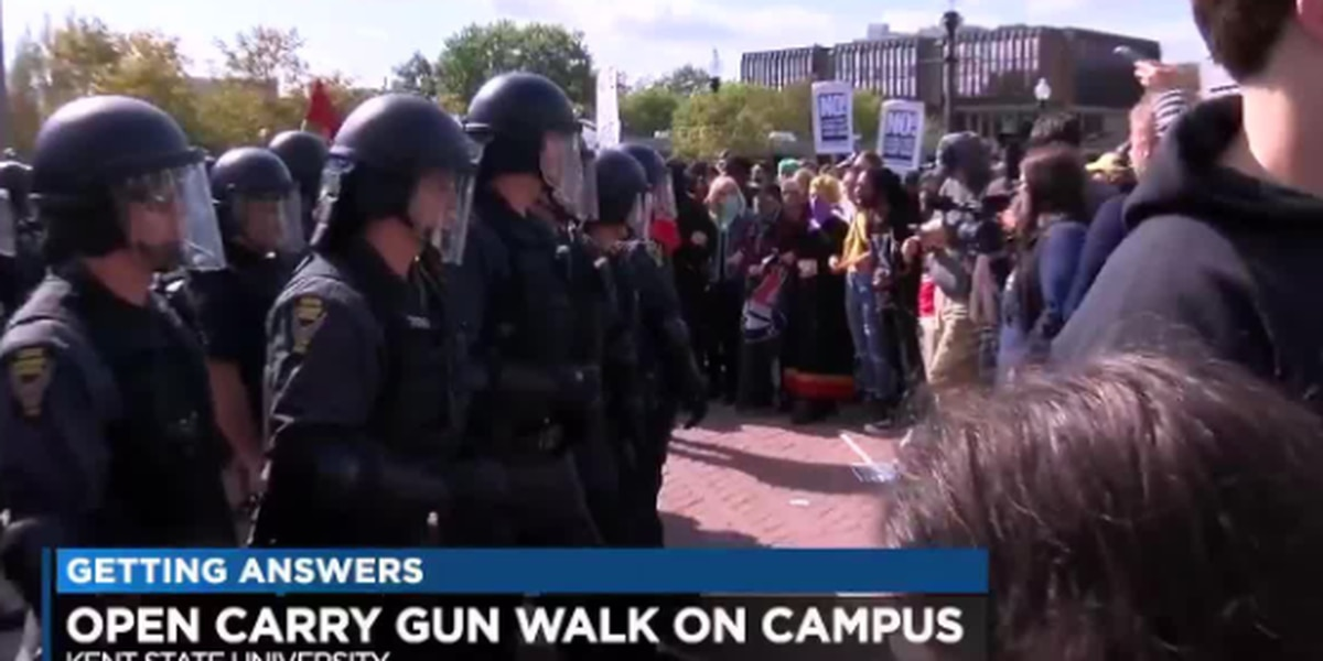 Kent State stuck with $65,000 tab after raucous open-carry gun walk