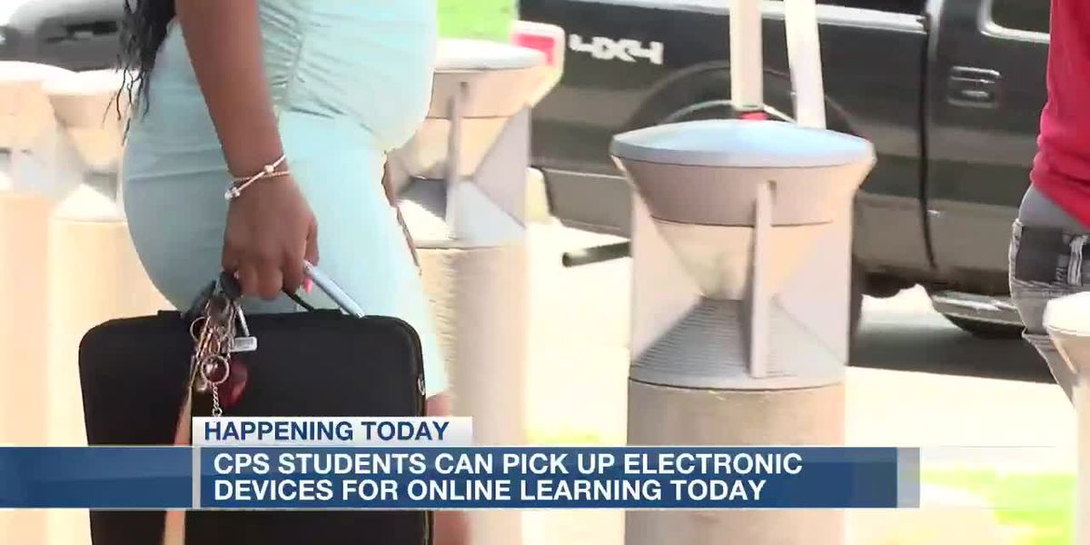 CPS hands out electronic devices for online learning