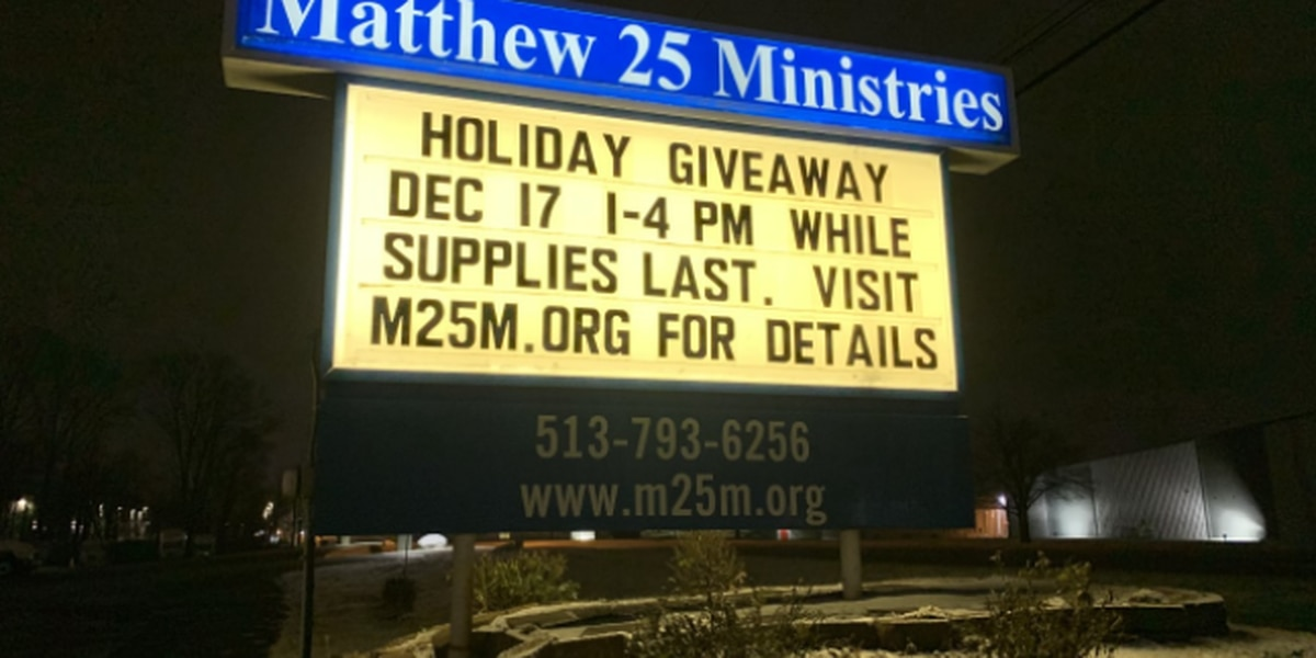 Holiday giveaway with food, PPE at Matthew 25: Ministries